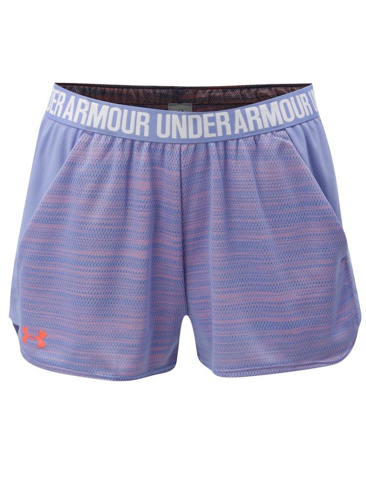 Oranžovo-modré dámské funkční kraťasy Under Armour