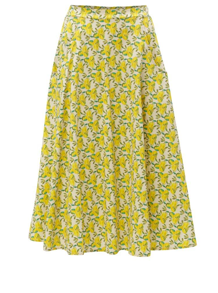 Krémovo-žlutá vzorovaná sukně ZOOT