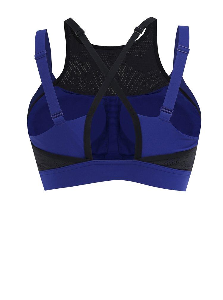 Černo-modrá dámská sportovní podprsenka Under Armour
