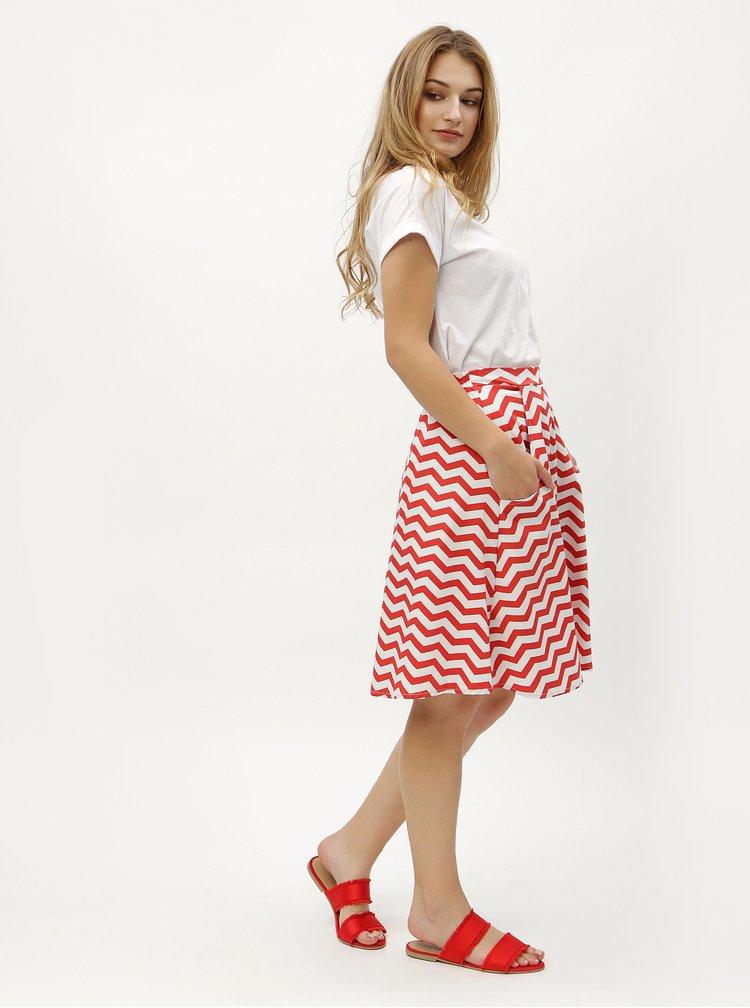Fusta alb-rosu cu model ZOOT
