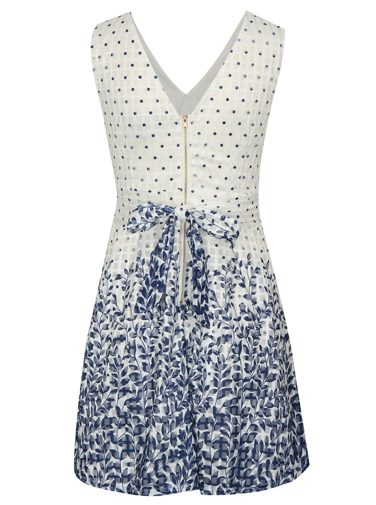 Modro-bílé vzorované šaty Mela London