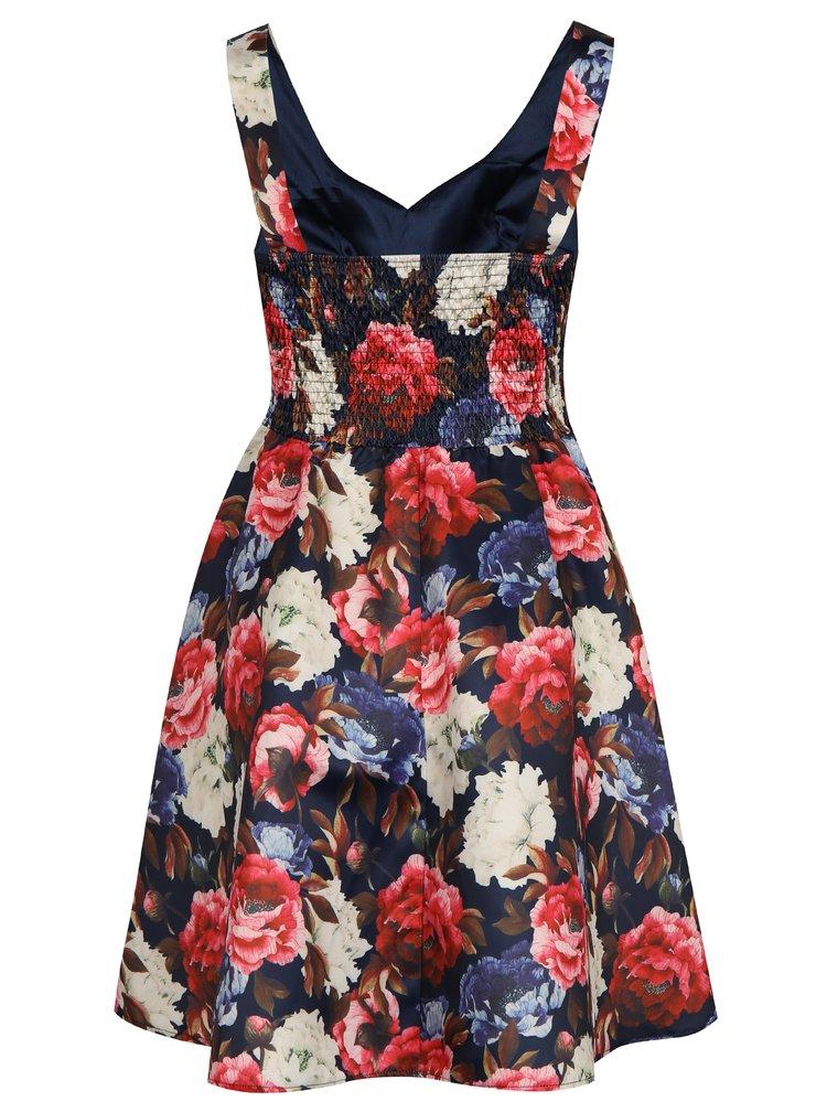 Rochie albastru inchis cu model Mela London