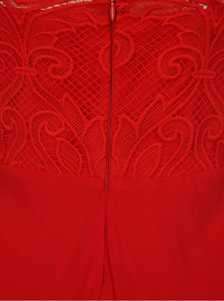 Červené maxišaty na ramínka Miss Grey Irene