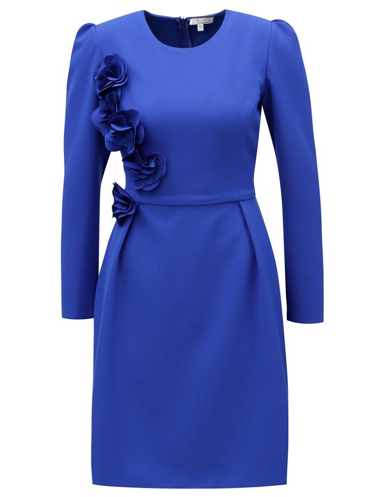 Modré šaty s dlouhým rukávem Miss Grey Layla