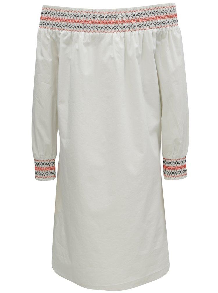 Bílé šaty s odhalenými rameny VILA Adiniana
