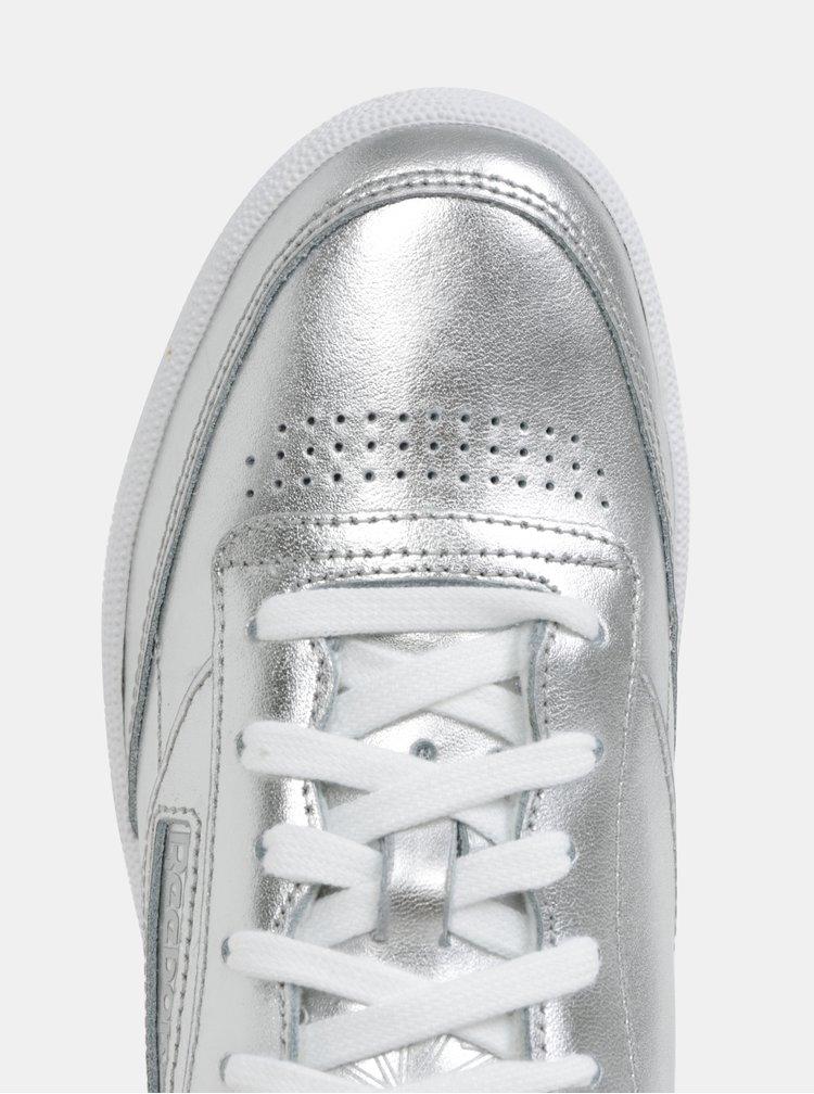 Dámské kožené tenisky ve stříbrné barvě Reebok Classic Club C 85