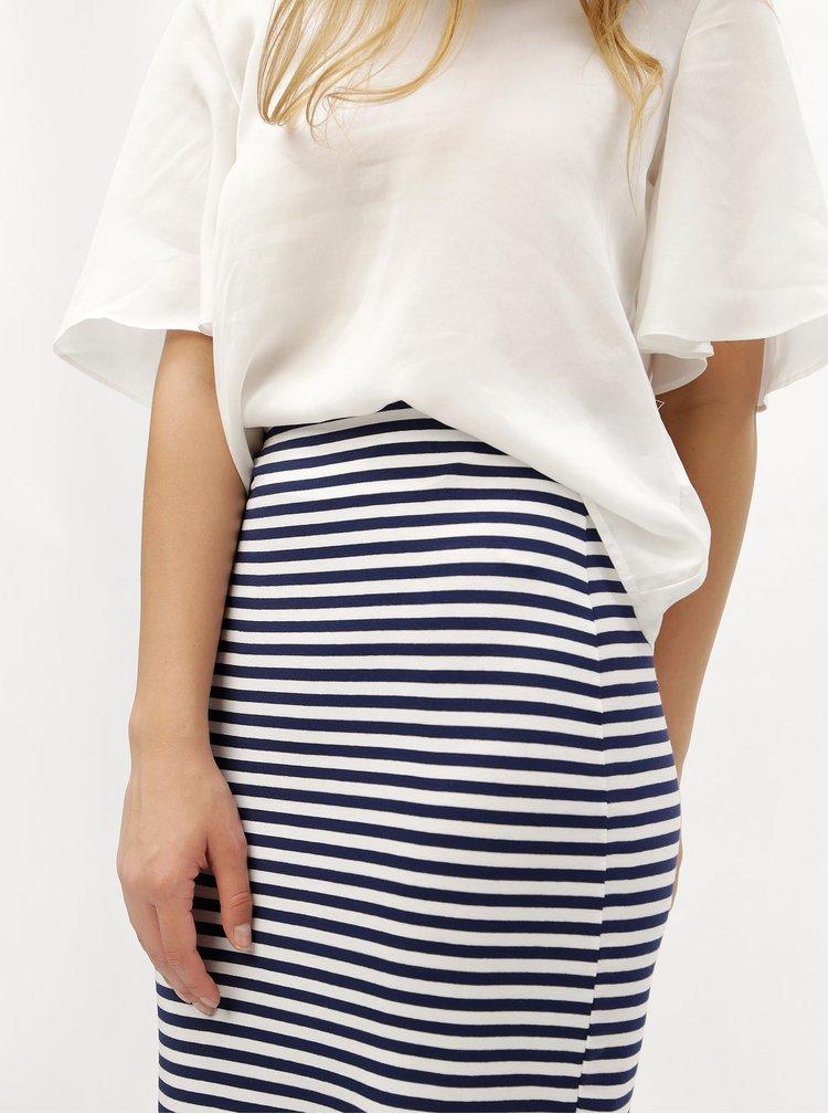 Modro-biela sukňa s jemným prúžkom ZOOT