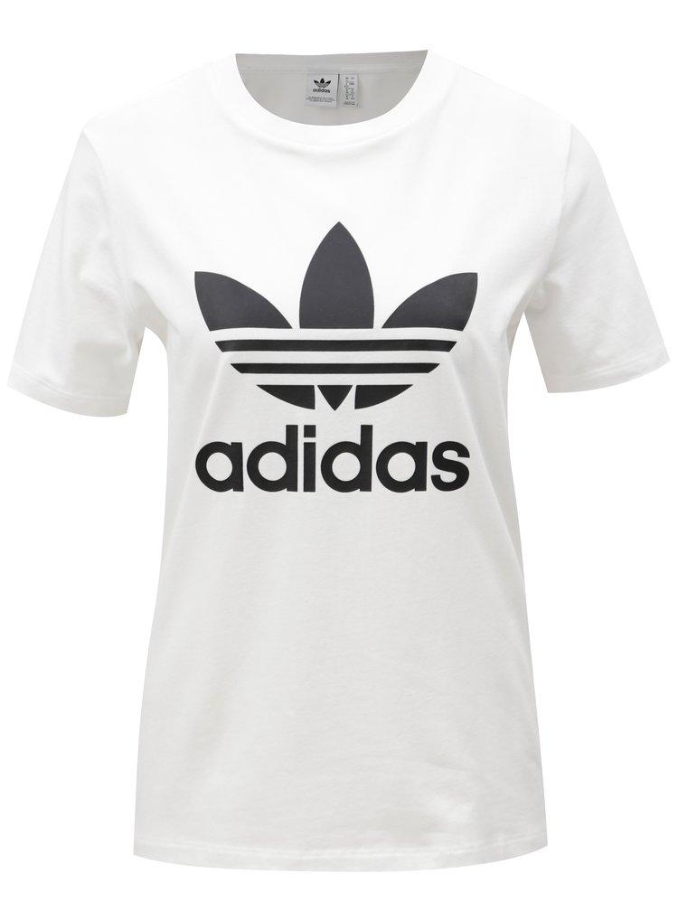 Bílé dámské tričko s potiskem adidas Originals
