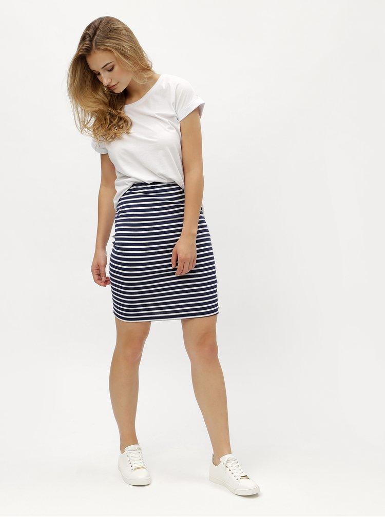 Bílo-modrá pruhovaná sukně s jemným proužkem ZOOT