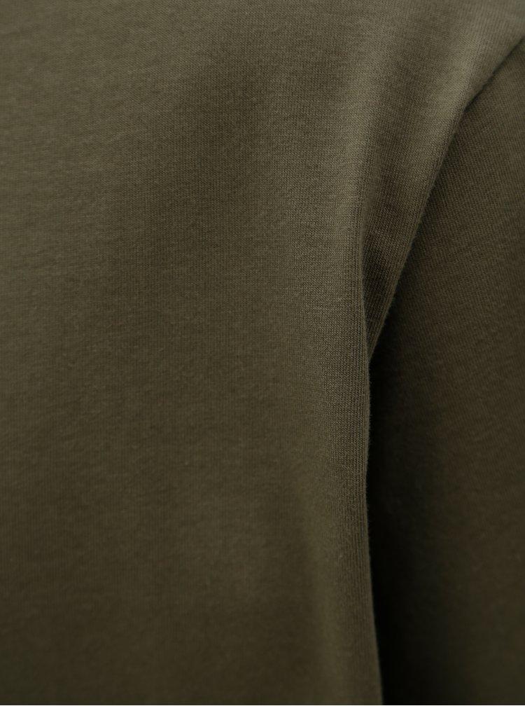 Khaki pánské basic tričko adidas Originals