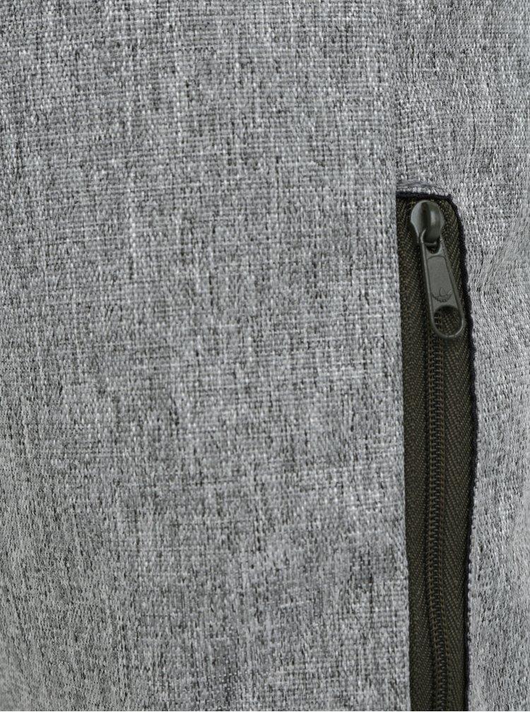 Šedý žíhaný vak s potiskem adidas Originals