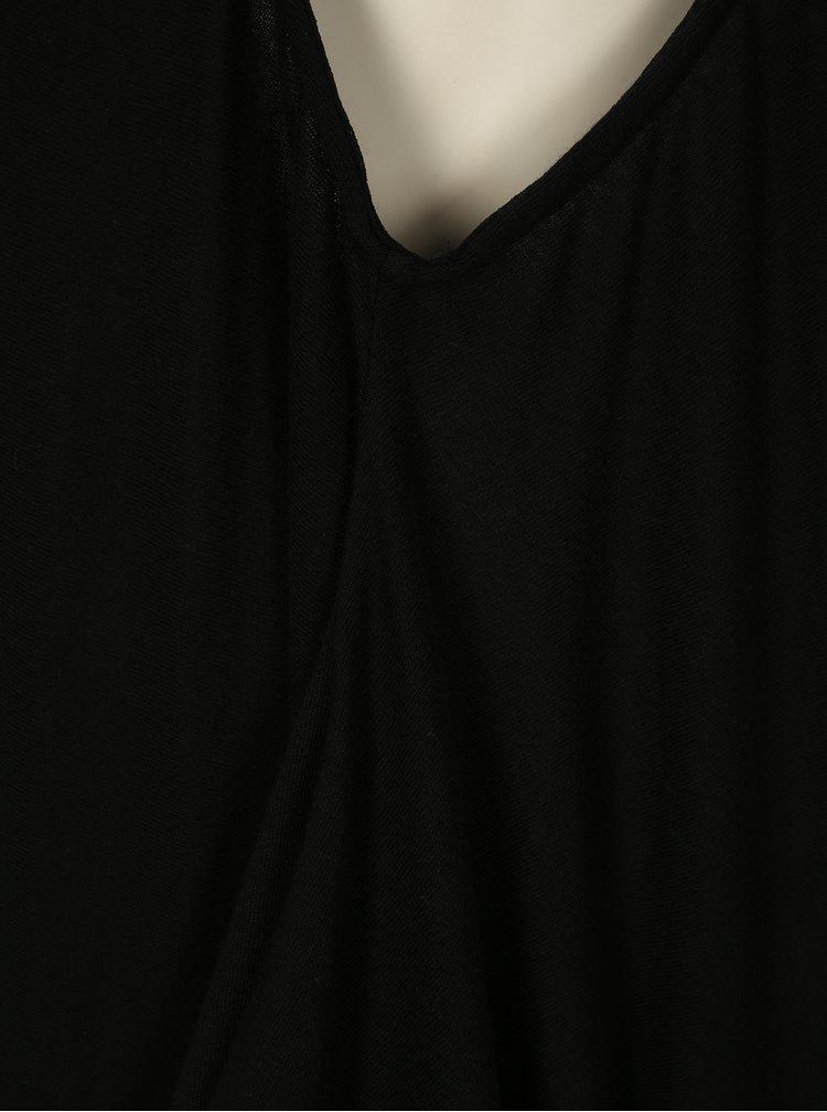 Černé maxišaty s kapsami La femme MiMi