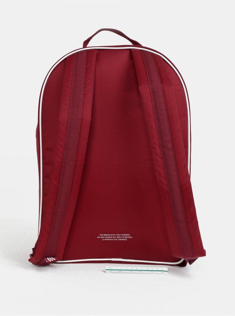 Vínový batoh s potiskem adidas Originals