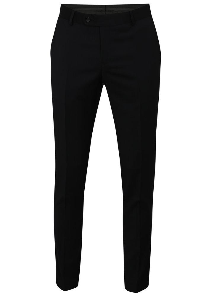 Pantaloni formali albastru-negru din lana Good Son