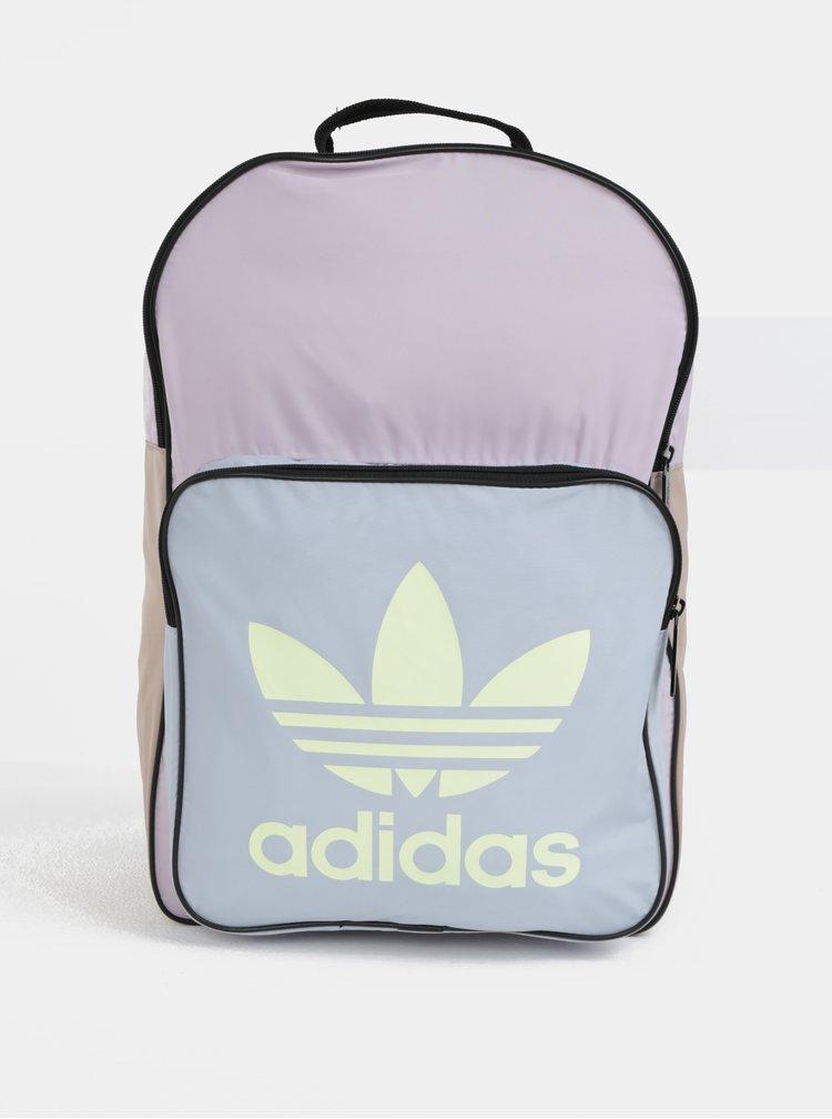 Modro-fialový dámský batoh s potiskem adidas Originals