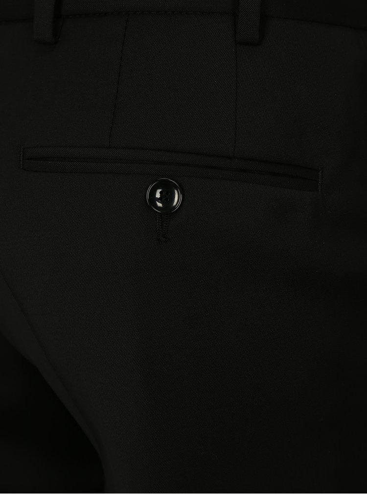 Pantaloni formali negri din lana Good Son