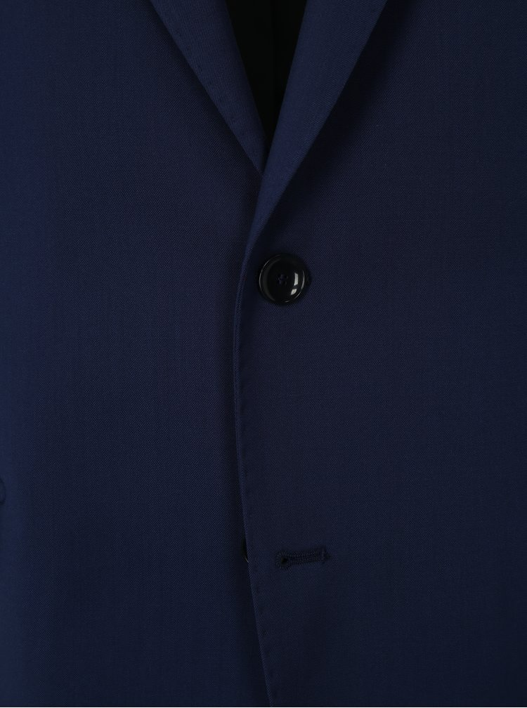 Sacou formal albastru din lana Good Son
