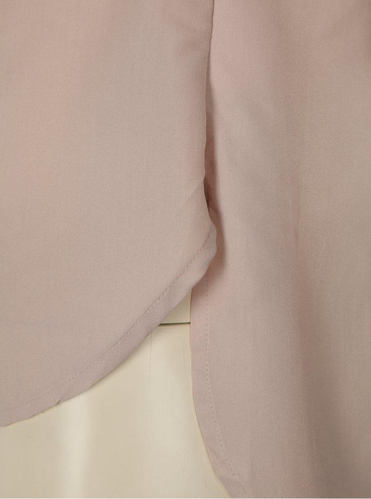 Světle růžová halenka s krátkým rukávem La femme MiMi