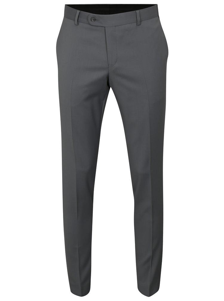 Pantaloni formali gri din lana Good Son