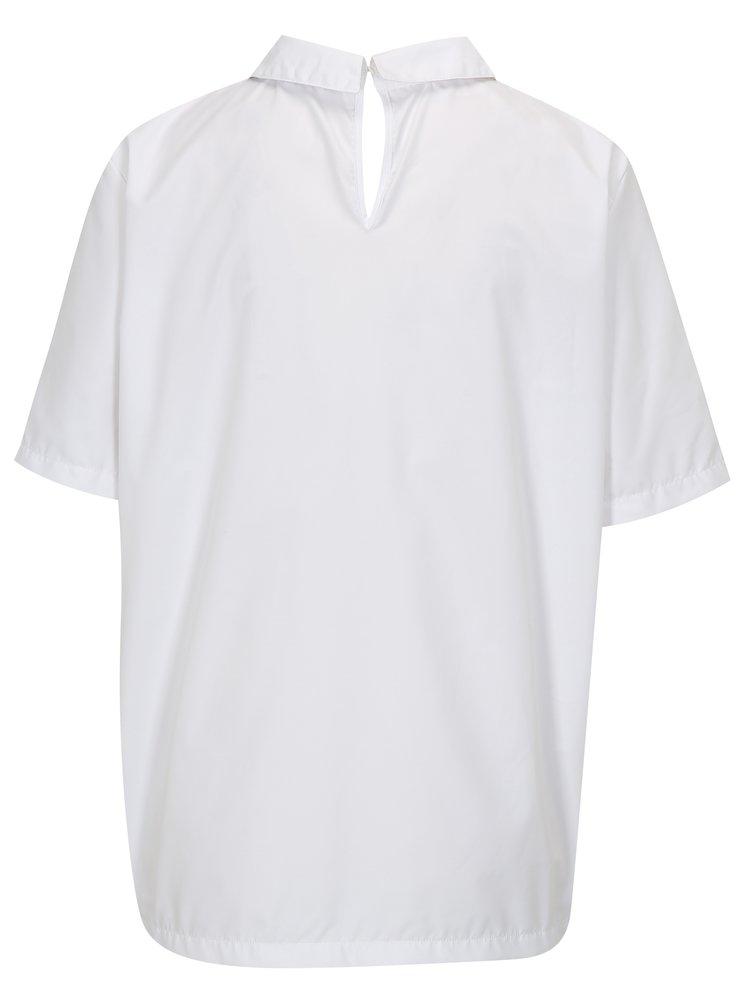 Bílá halenka s límečkem La femme MiMi