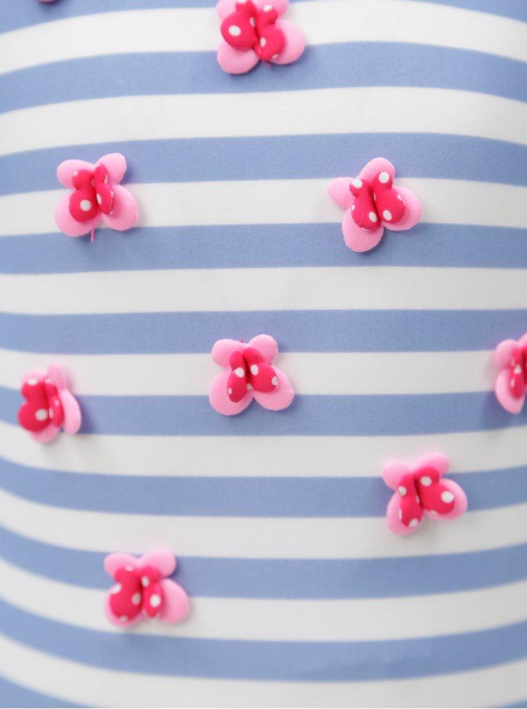 Bílo-modré holčičí pruhované jednodílné plavky 5.10.15.