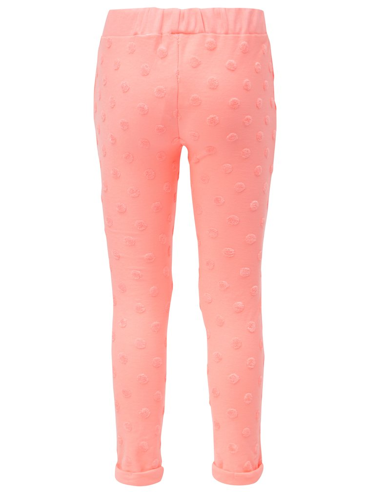 Růžové holčičí puntíkované tepláky 5.10.15.