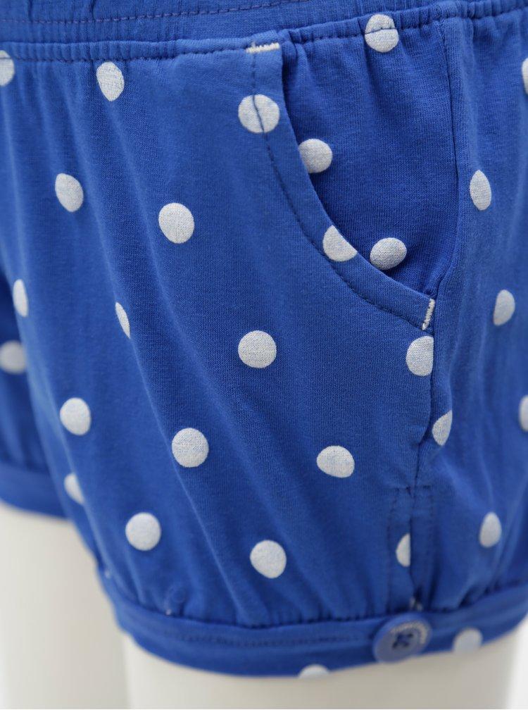 Tmavě modré holčičí puntíkované kraťasy 5.10.15.