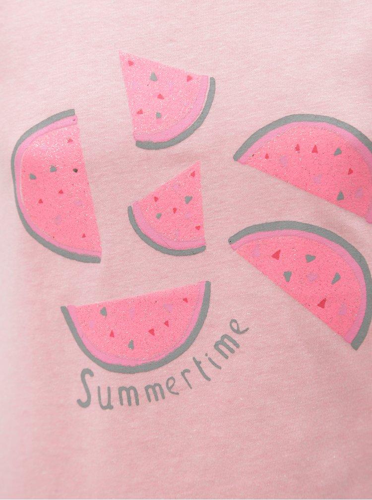 Růžové holčičí tílko s potiskem melounů 5.10.15.