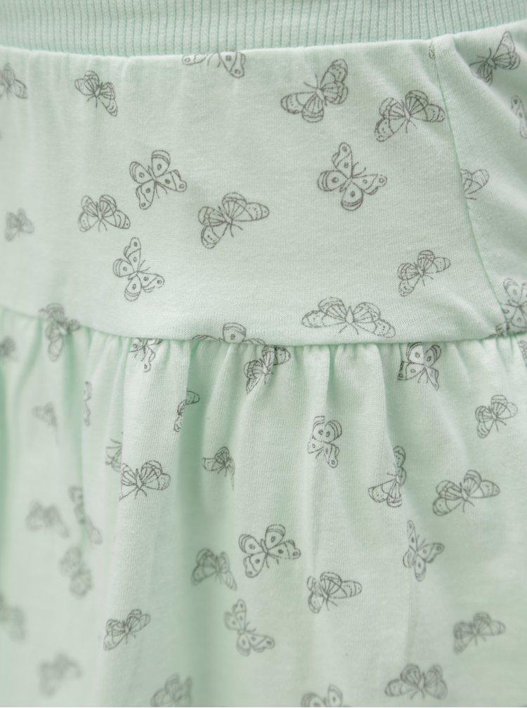 Mentolová vzorovaná sukně 5.10.15.