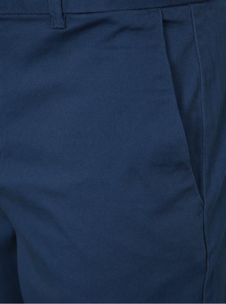 Modré chino kraťasy Burton Menswear London