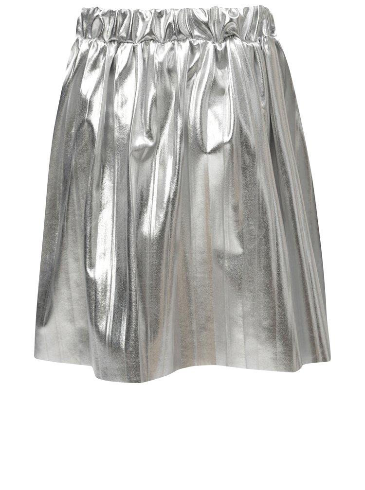 Plisovaná metalická sukně ve stříbrné barvě 5.10.15.