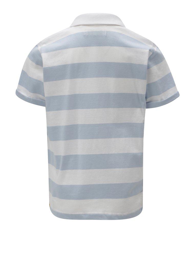 Modro-bílé klučičí pruhované polo tričko 5.10.15.