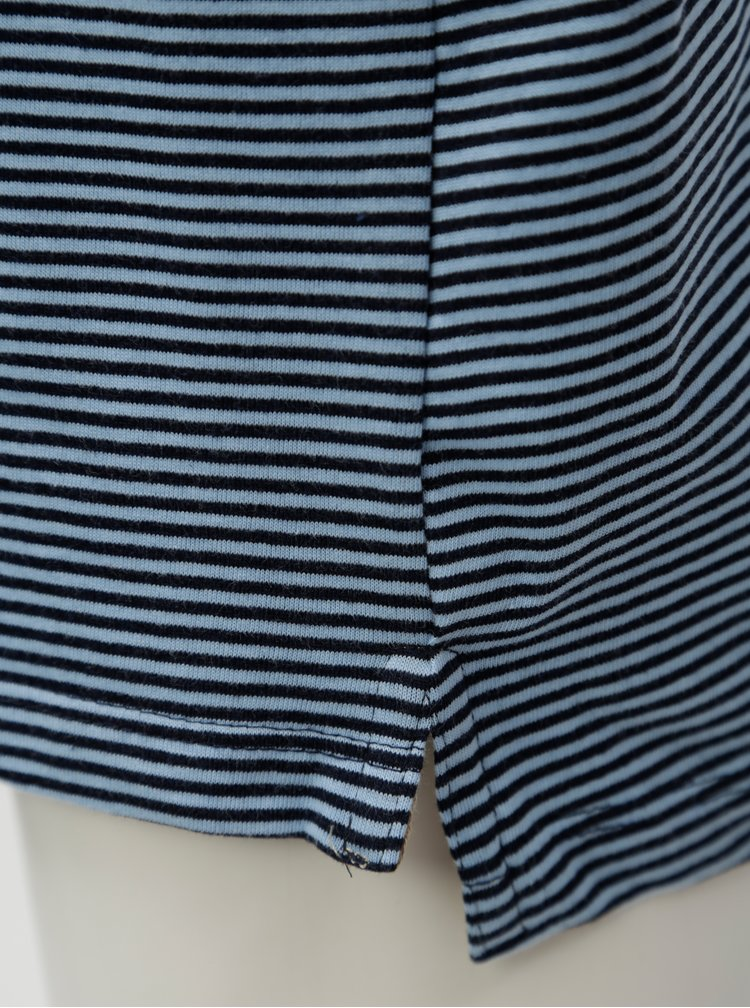 Modré pruhované klučičí polo tričko 5.10.15.