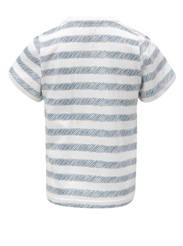 Modro-bílé klučičí pruhované tričko s náprsní kapsou 5.10.15.