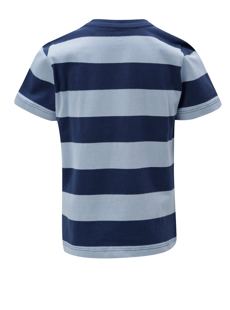 Modré klučičí pruhované tričko s potiskem 5.10.15.