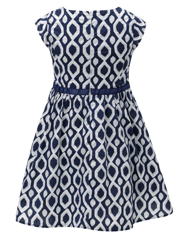 Bílo-modré vzorované šaty 5.10.15.