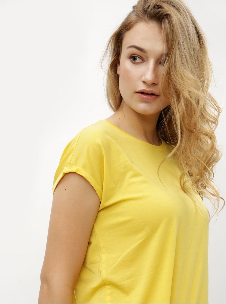 Žluté basic tričko VERO MODA Ava