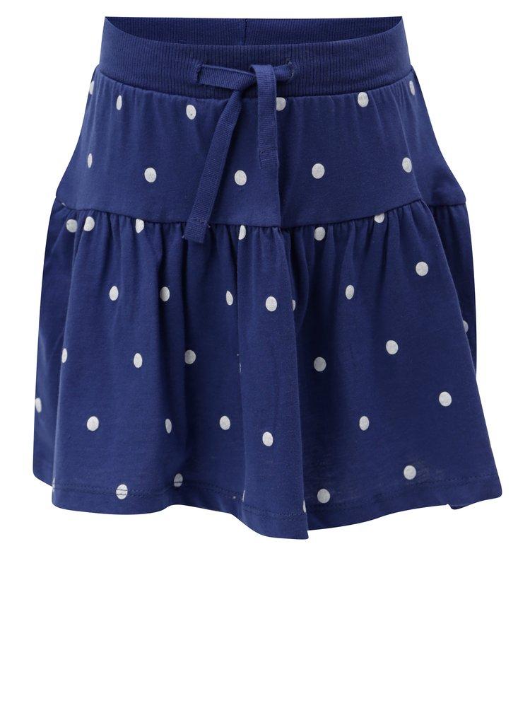 Tmavě modrá puntíkovaná sukně 5.10.15.