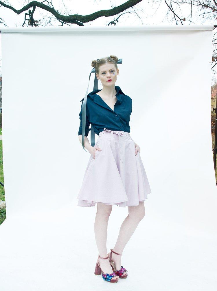 Světle růžová zavinovací sukně La femme MiMi