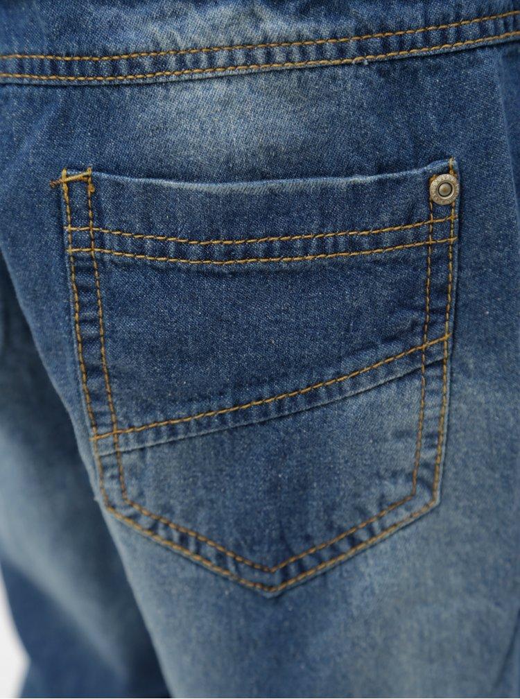 Modré klučičí džínové kraťasy s otrhaným efektem 5.10.15.