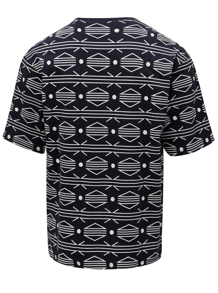 Tmavě modré vzorované tričko ONLY & SONS African