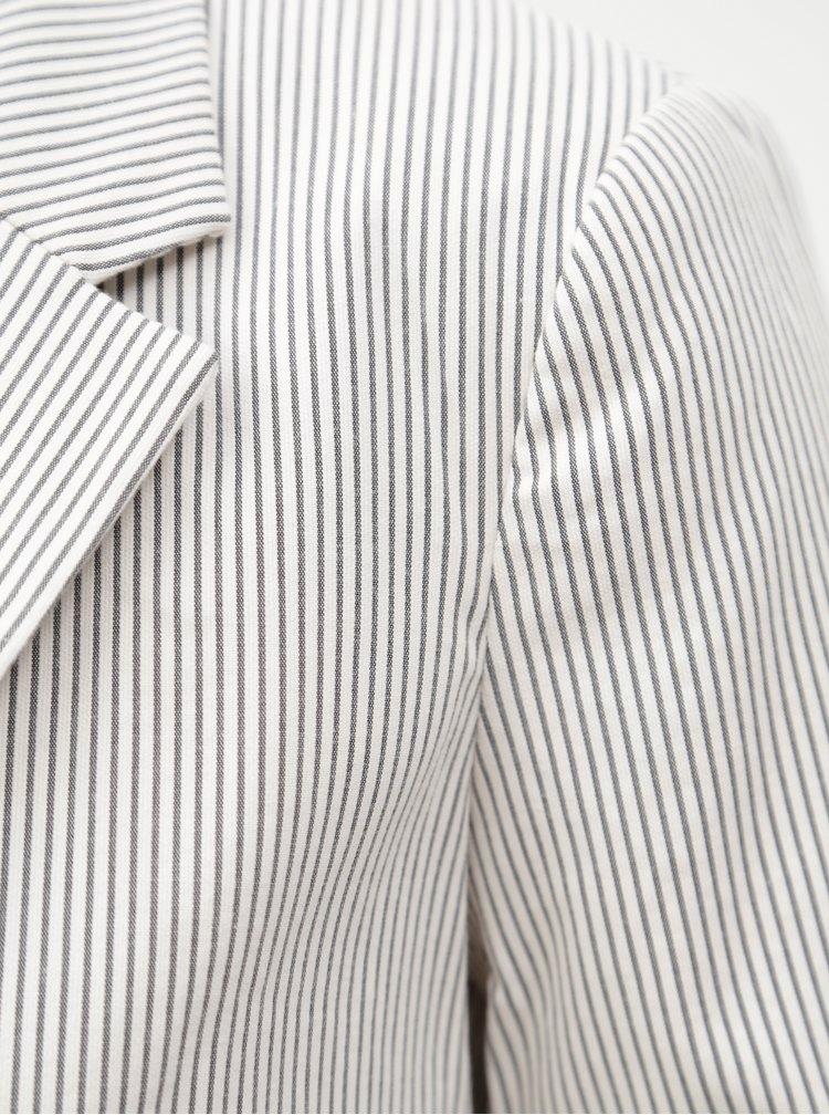 Šedo-bílé pruhované sako Dorothy Perkins