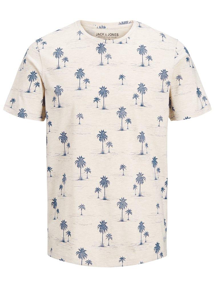 Béžové tričko s potiskem Jack & Jones Jason