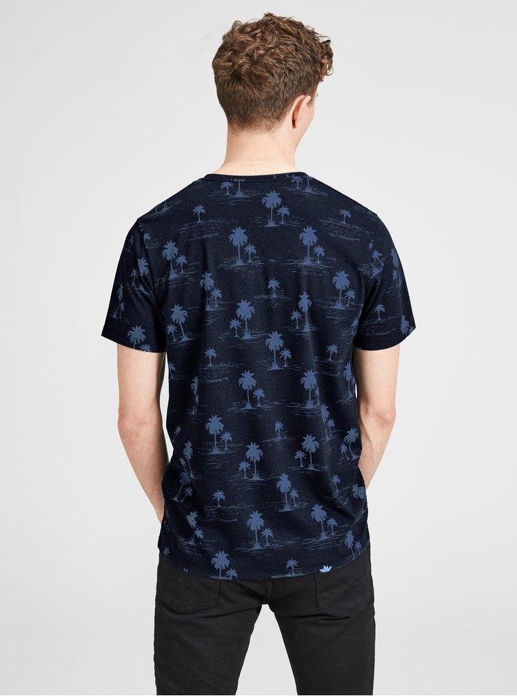 Tmavě modré tričko s potiskem Jack & Jones Jason