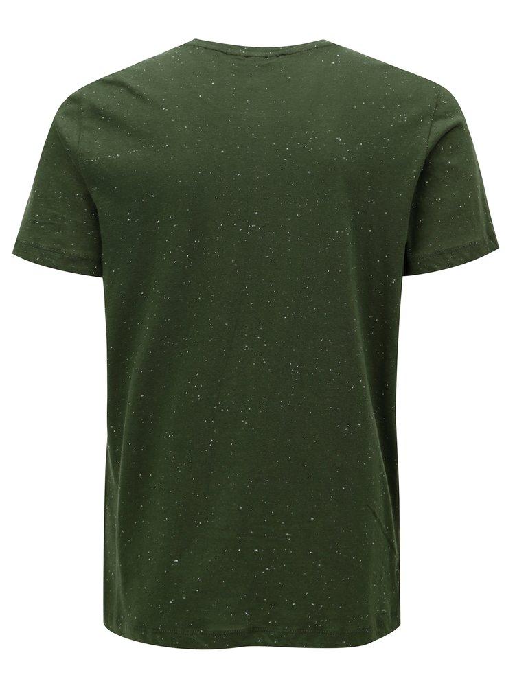 Tmavě zelené tričko Casual Friday by Blend