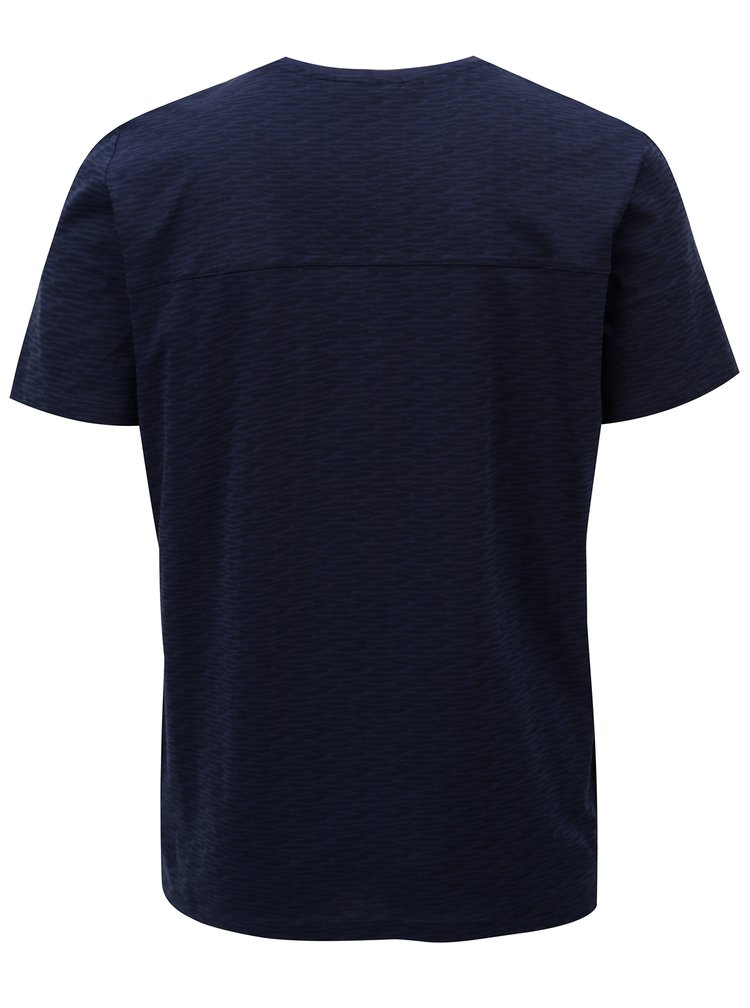 Tricou albastru inchis cu model Casual Friday by Blend