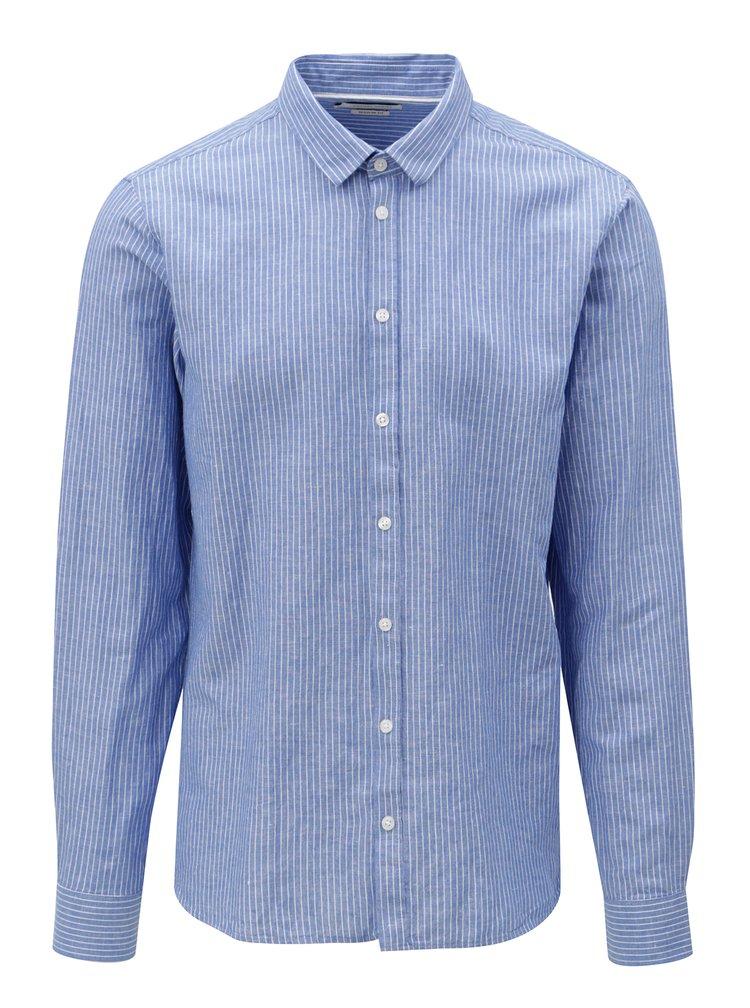 Camasa albastra regular fit cu model Casual Friday by Blend