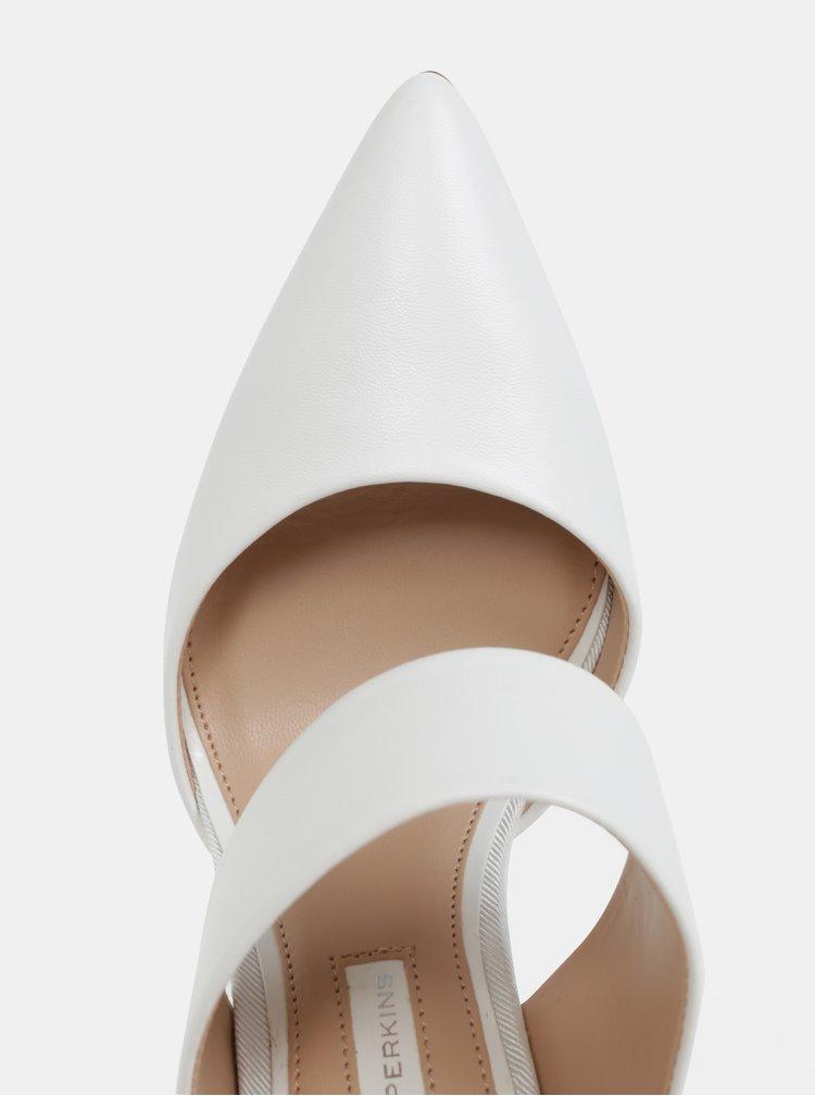 Bílé pantofle do špičky na podpatku Dorothy Perkins