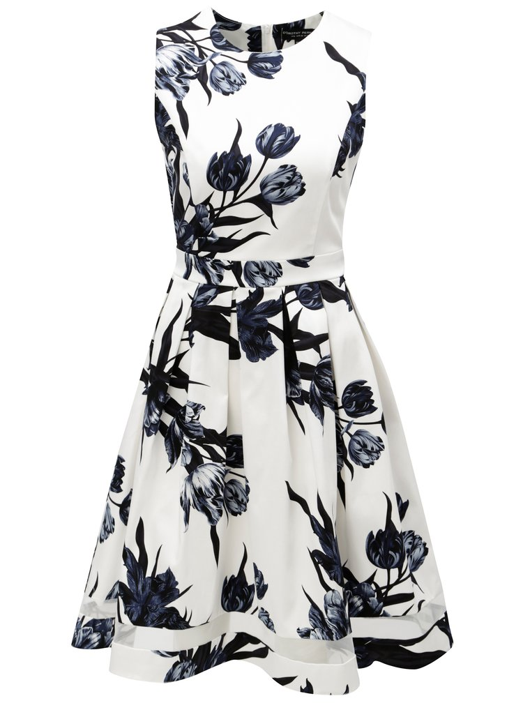 Modro-bílé květované šaty Dorothy Perkins