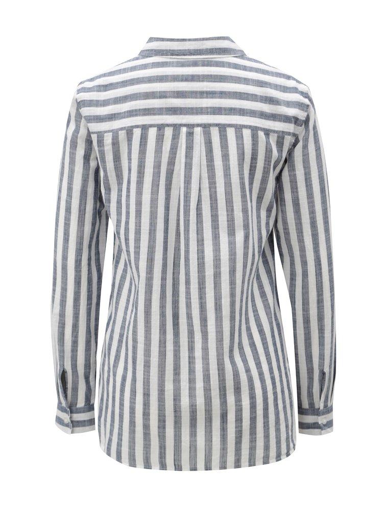 Bílo-modrá pruhovaná košile Dorothy Perkins